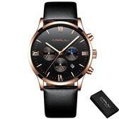 CRRJU® Horloges voor Mannen Herenhorloge Jongens Heren Watch Horloge – Horlogebox Geschenkdoos – Zwart Rosé