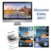 Boek cover (NIEUW!) Auto Theorieboek Rijbewijs B 2021 + Online Theorie Oefen Examens + Samenvatting van LeerTheorie BV