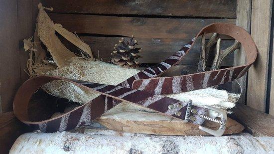 MRL Zebra Bruin 4cm broekriem. L: 142 cm