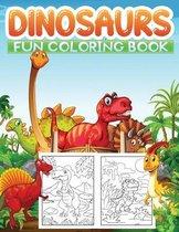 dinosaurs fun coloring book