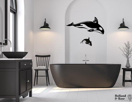 Bol Com Muursticker Orka Kunst Poster Kinderkamer Oceaan Dieren Dolfijnen Badkamer