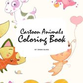 Cartoon Animals Coloring Book for Children (8.5x8.5 Coloring Book / Activity Book)