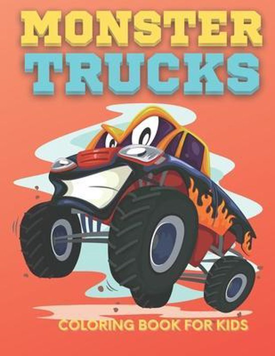 Monster Trucks Coloring Book for Kids