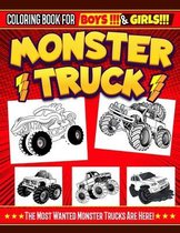 Monster Truck Coloring Book For Boys And Girls