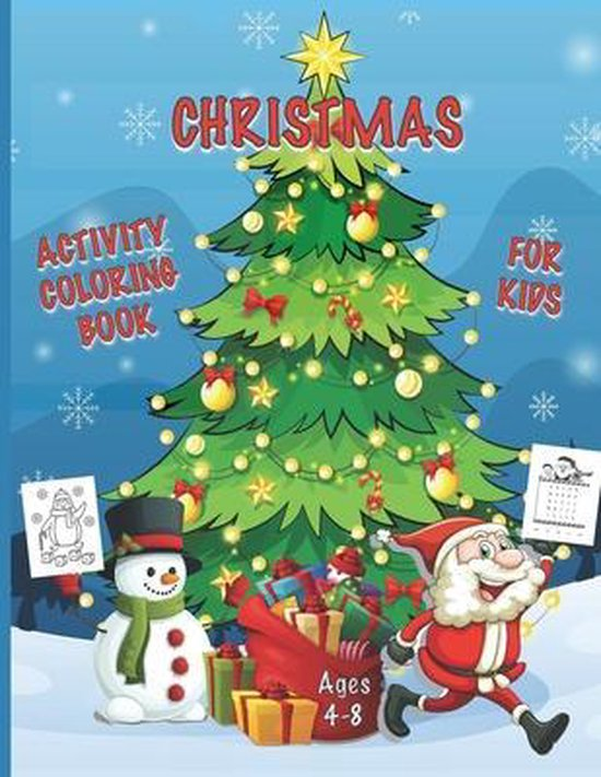 Christmas Activity Coloring Book for Kids Ages 4-8
