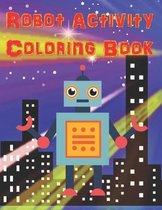 Robot Activity Coloring Book