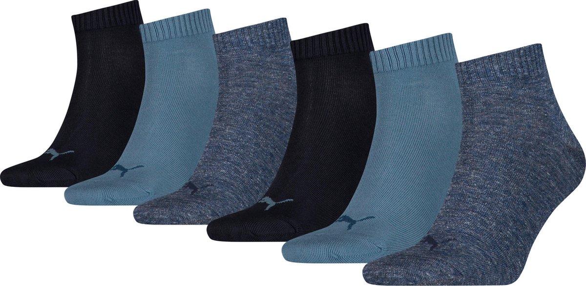PUMA  PLAIN QUARTER Sneakersokken Unisex 6P - Maat 43-46