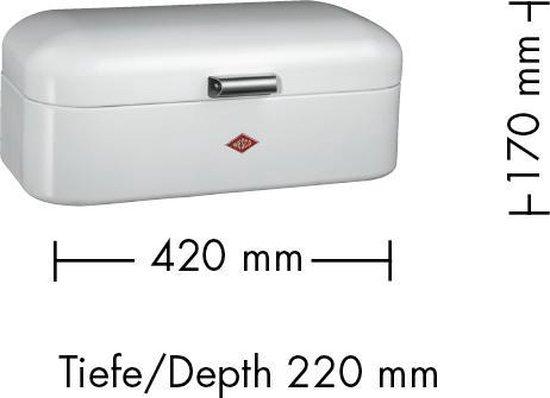 Wesco Grandy Broodtrommel - 15L - Zwart