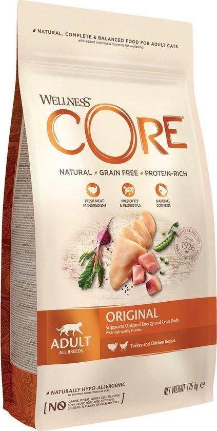 Wellness Core Grain Free Cat Original Kalkoen & Kip - Kattenvoer - 1.75 kg