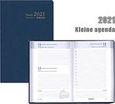 Kleine Brepols agenda 2021 - SETA - Trade - Blauw - 6talig - Klein formaat: 7,7 x 12 cm