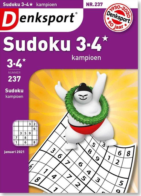 Afbeelding van Denksport Puzzelboek, Sudoku 3-4* kampioen, editie 237