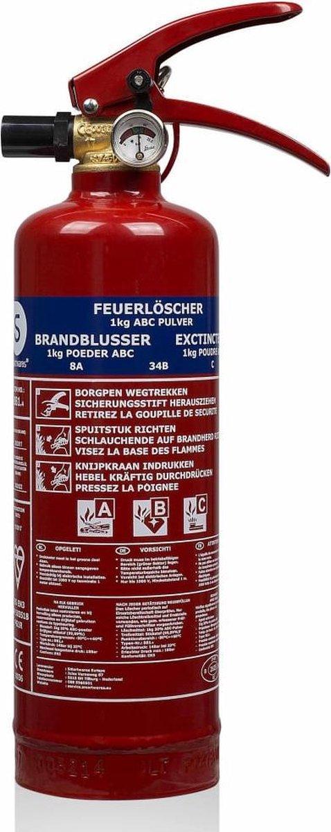 Smartwares BB1NL.3 - Brandblusser - Poeder - Inclusief ophangbeugel - Brandklasse ABC - 1kg - Nederl