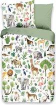 Good Morning Jungle - Dekbedovertrek - Junior - 120x150 cm - Multi kleur