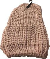 Kwalitatieve Gevlochten Dames Muts / Beanie - One Size - Roze