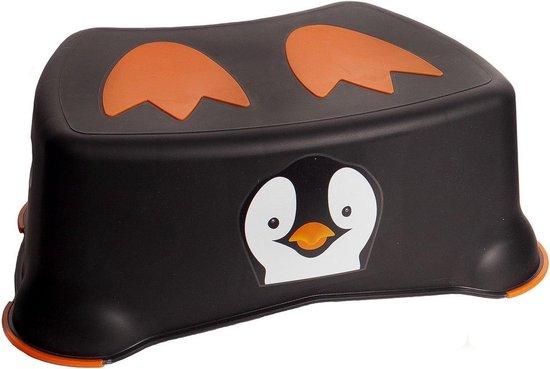 Product: Jippie's Toiletkrukje Pinguin 26,2 X 14,6 Cm Zwart/oranje, van het merk Jippie's