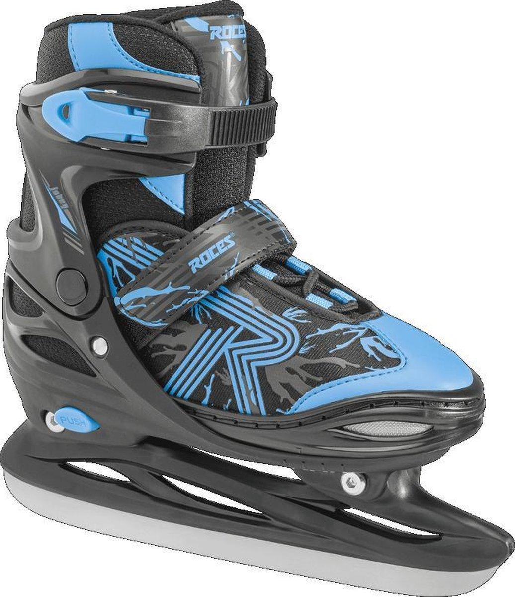 Roces - Jokey ice 2.0 - Verstelbare schaatsen - Maat 34-37 - Zwart - Blauw - IJshockeyschaats voor kinderen