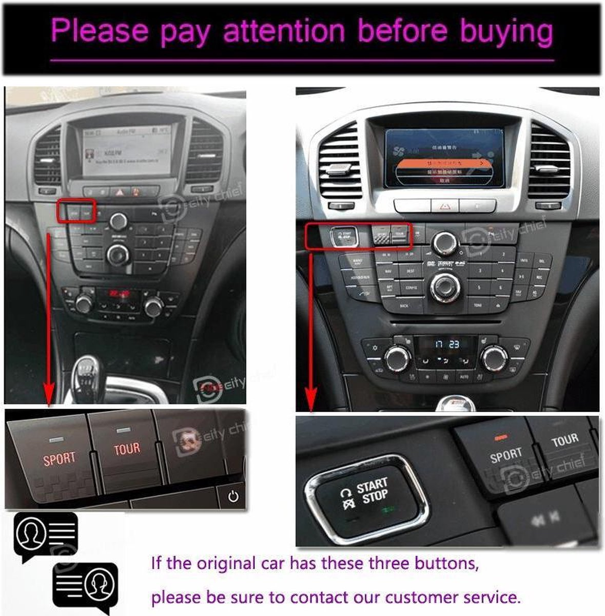 Opel Insignia 2008-2011 Android 9.0 navigatie en multimediasysteem 10,4 inch scherm 2+32GB Zwart