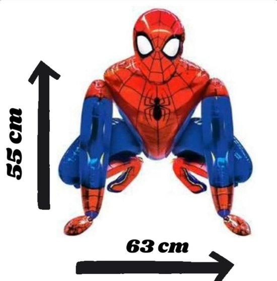 Partygoodz Spiderman XL Ballon 3D Folieballon - Versiering - Decoratie - Kinderfeest - Kinderverjaardag - Feest - Grote Ballonnen - Inclusief opblaasrietje