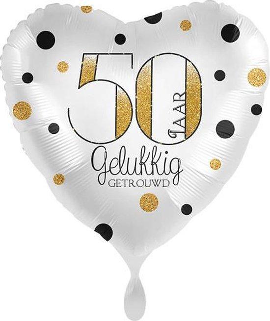 Everloon - 50 Jaar Gelukkig Getrouwd - 43cm - Voor huwelijk jubileum