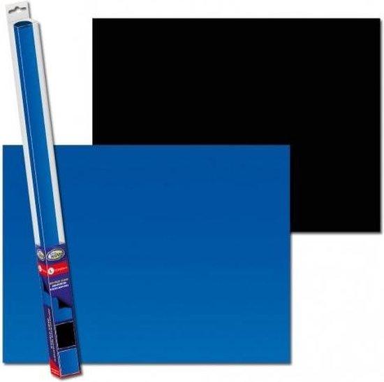 Aquarium achterwand poster   Blauw - Zwart (100x50cm)