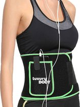 LuxuryBody® Zweetband Buik incl. E-Boek - Waist Trainer met Zak Man/Vrouw - Afslankband - Sauna