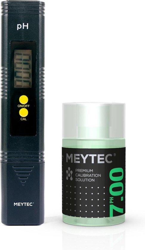 PH Meter - incl. premium kalibratievloeistof voor zwembad, spa, aquarium