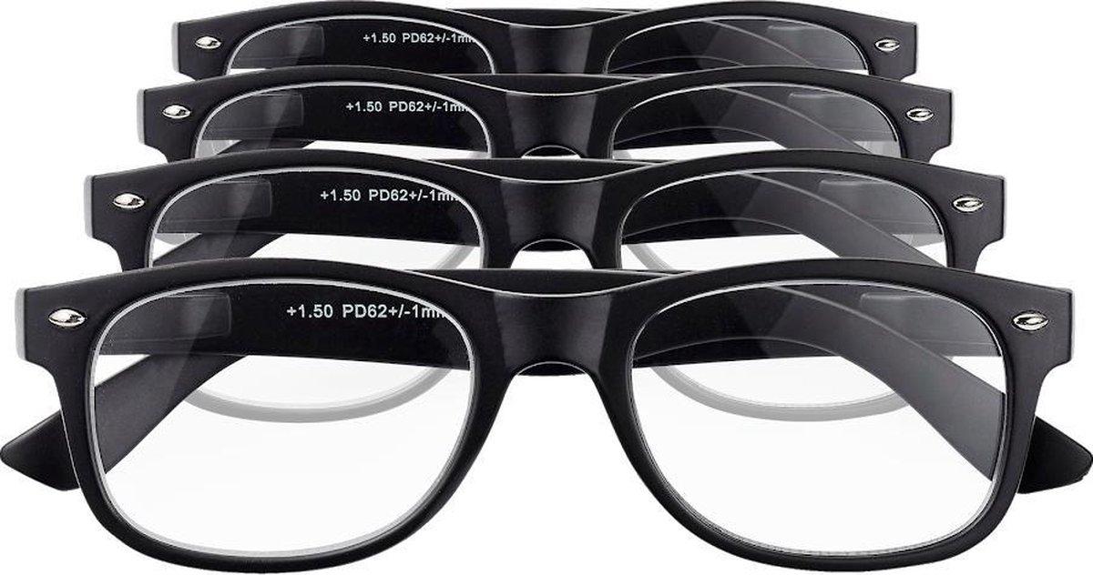 Etos Leesbril Mat Zwart +1.5 - 4 stuks