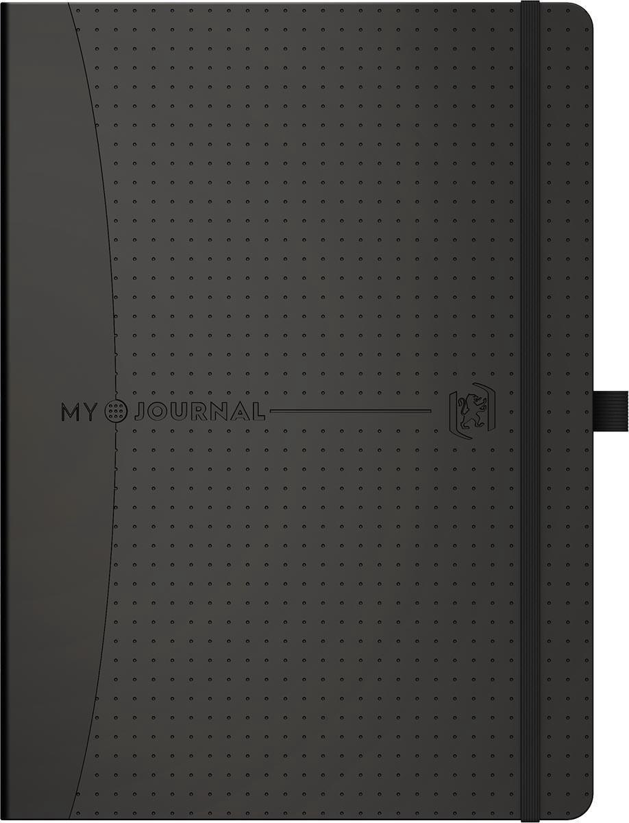 Oxford My Journal - Bullet Journal - Agenda - Notitieboek - A5 - Dotted - 100g - zwarte harde kaft