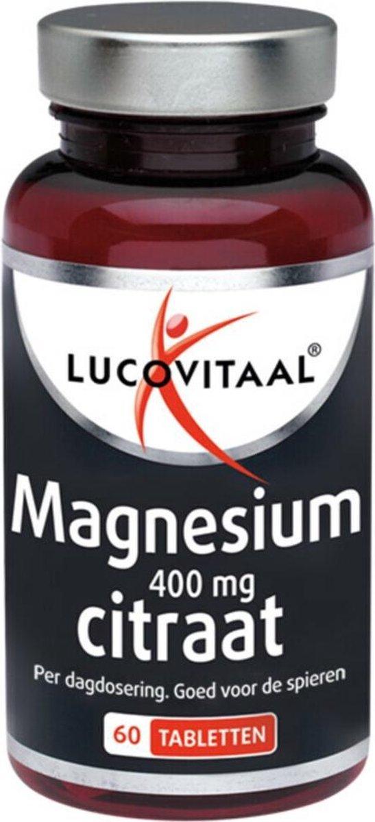 3x Lucovitaal Magnesium Citraat 400mg 60 tabletten