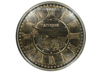 Klok Met Tandwielen Klassiek 60cm | Wanddecoratie  | Wandklokken | Diameter 60