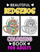 Beautiful Hedgehog Coloring Book for adults