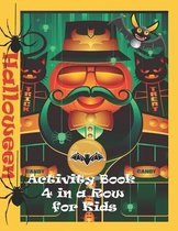 Halloween Activity Book 4 In A Row for Kids
