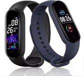 Smartwatch fit Stappenteller - Calorieënmeter - Hartslagmeter - Sport horloge - Bloeddrukmeter