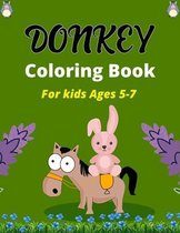 DONKEY Coloring Book For Kids Ages 5-7