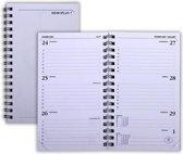 RYAM 2021 Agendavulling - Memoplan 7 - 1 week op 2 pagina's -Wit