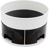 Draaiplateau afschermrand met vak indeling 4x- Kruiden/Keukenkast/organizer- anti-slip-bodem (23x15 cm wit)