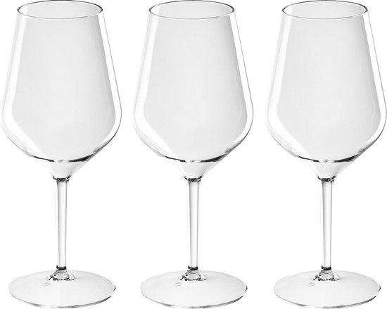10x Witte of rode wijn wijnglazen 47 cl/470 ml van onbreekbaar kunststof - Wijnen wijnliefhebbers drinkglazen - Wijn drinken