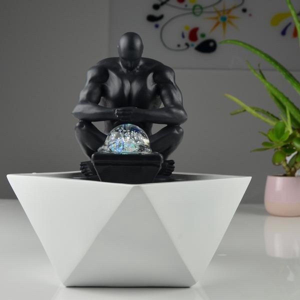Moderne Mister Relax - fontein - interieur - fontein voor binnen - relaxeer - zen - waterornament - cadeau - geschenk - relatiegeschenk - origineel - lente - zomer - lentecollectie - zomercollectie - afkoeling - koelte