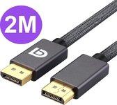 Displayport Kabel 2 Meter - Displayport naar Displayport - Ondersteund 8K 60HZ
