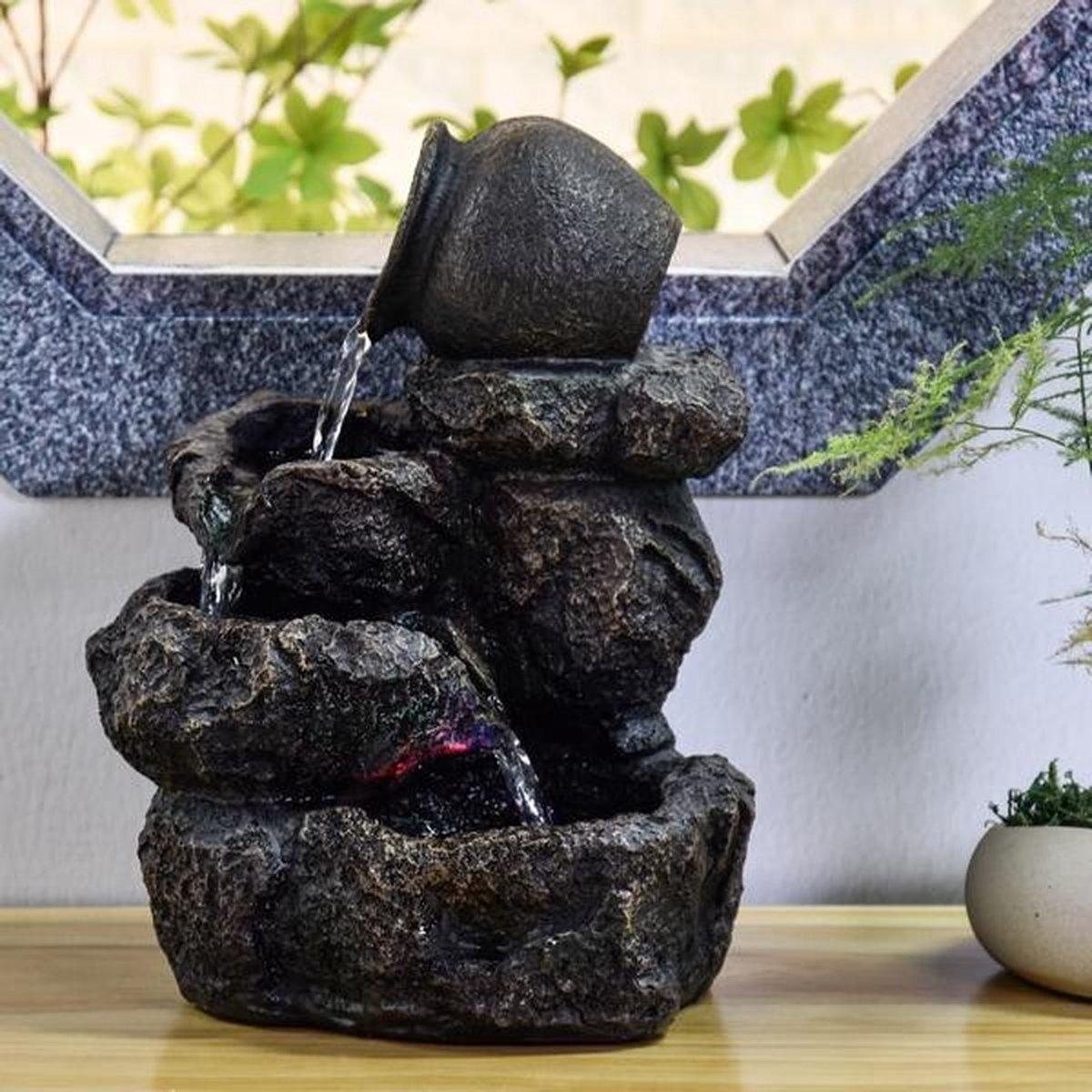 Nature Nivello Relax 31 cm hoog - fontein - interieur - fontein voor binnen - relaxeer - zen - waterornament - cadeau - geschenk - relatiegeschenk - kerst - nieuwjaar - origineel - lente - zomer - lentecollectie - zomercollectie - afkoeling - koelte