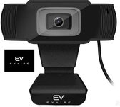 Evaire Webcam voor PC - Met microfoon - Full HD webcam 1080P - Resolutie (1920x1080) - Autofocus - Eenvoudige installatie - Microfiber - Webcamera