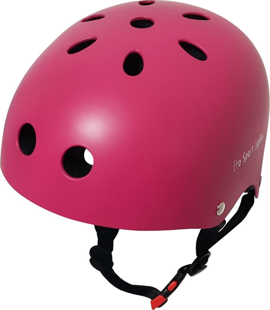 Kinderfietshelm Pro Sport Lights - skate Fietshelm voor kinderen - Pink - kinderhelm 53 - 60 cm