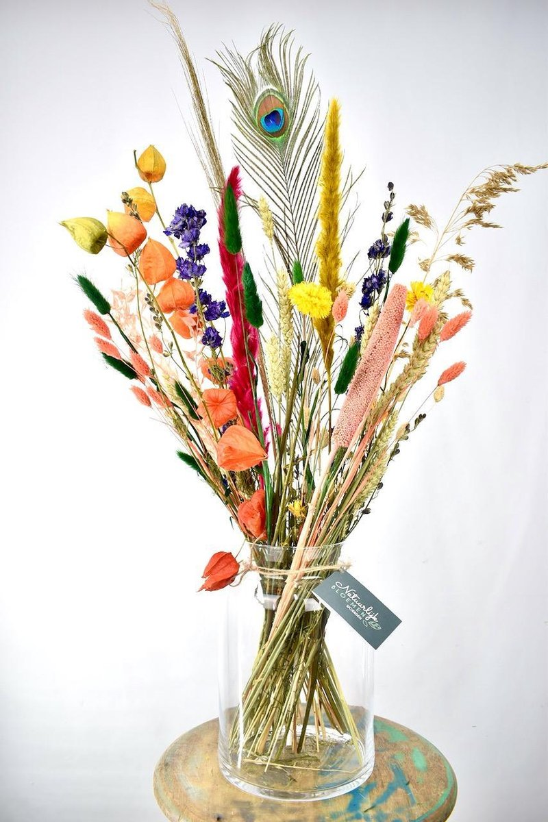 Droogbloemen - boeket 70cm - Good Vibes