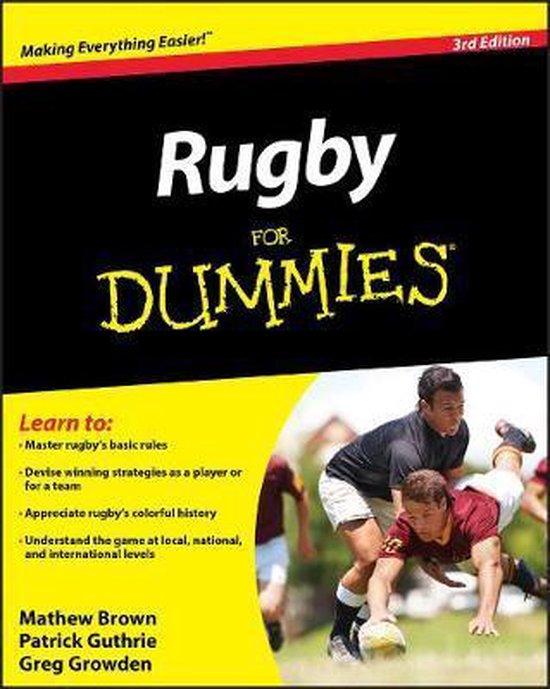 Boek cover Rugby For Dummies van Mathew Brown (Paperback)