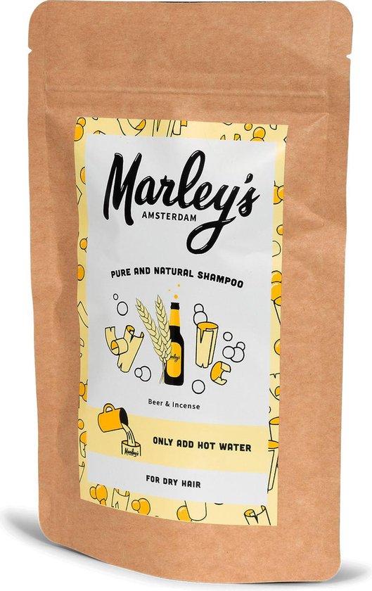 Marley's Amsterdam duurzame & natuurlijke shampoo - Droog Haar - Bier & Wierook - 450ml - shampoovlokken