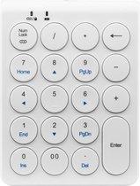 Draadloze Numpad - Draadloos Numeriek Toetsenbord - 19 toetsen - Bluetooth - Wit