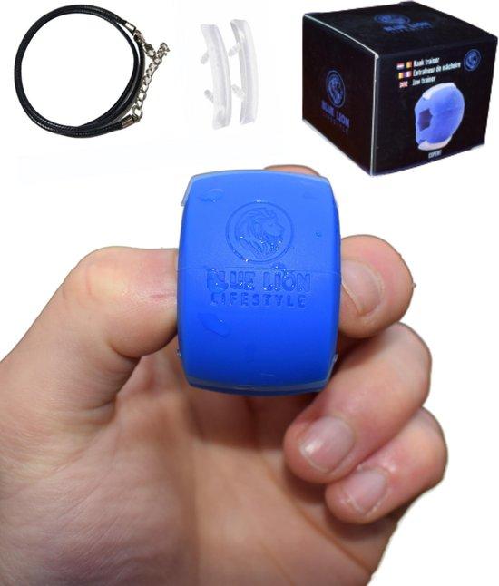 Blue Lion Kaaktrainer - Kaaklijn trainer - Kaak trainer met opbergdoos - Ketting - 2 extra bijtstrips - Jawline trainer