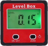 Digital Hoekmeter LCD Rood waterdichte