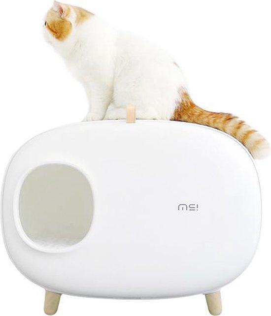 MakeSure Design kattenbak met lade wit