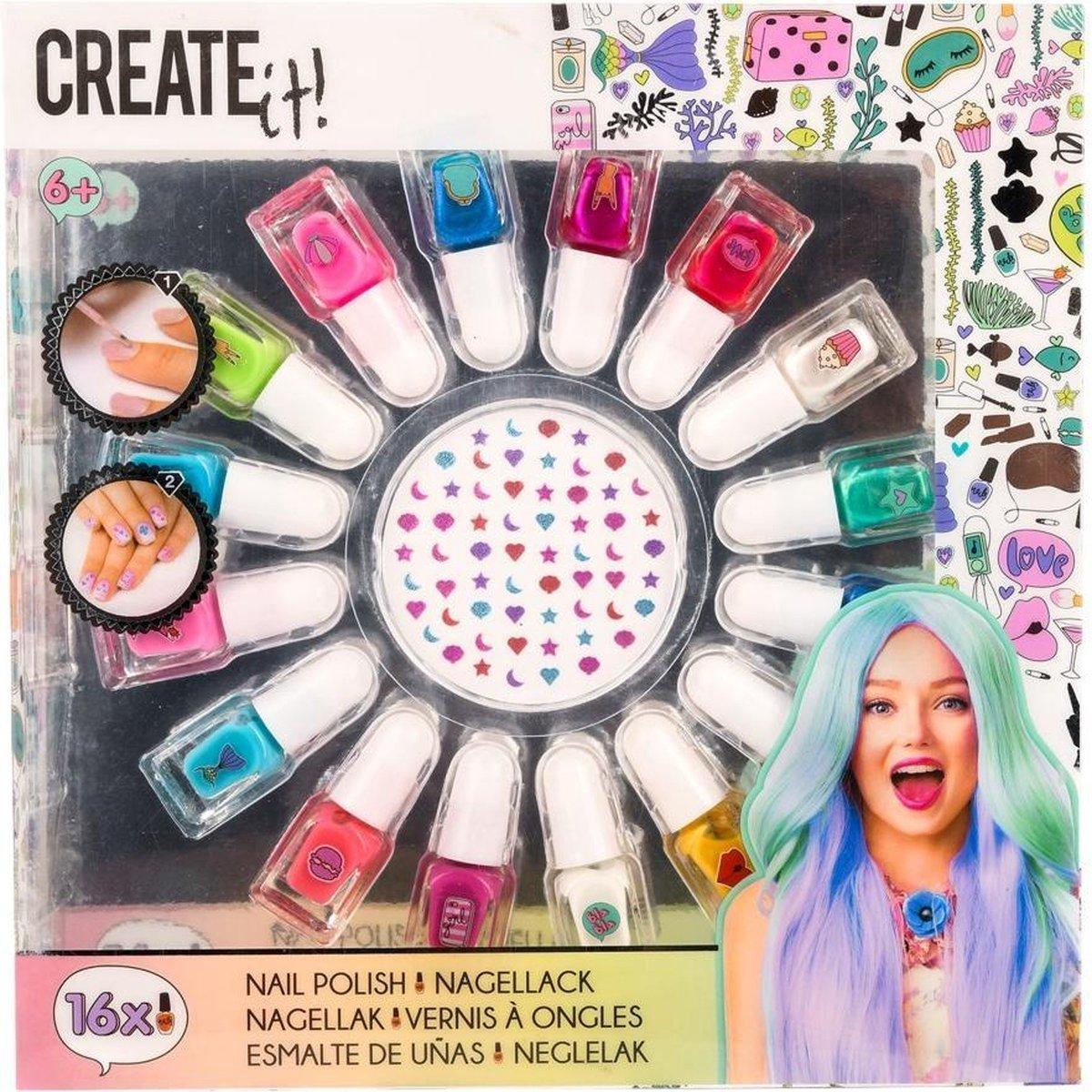Create It! Nagellak Polish 2 Ml Meisjes 17-delig